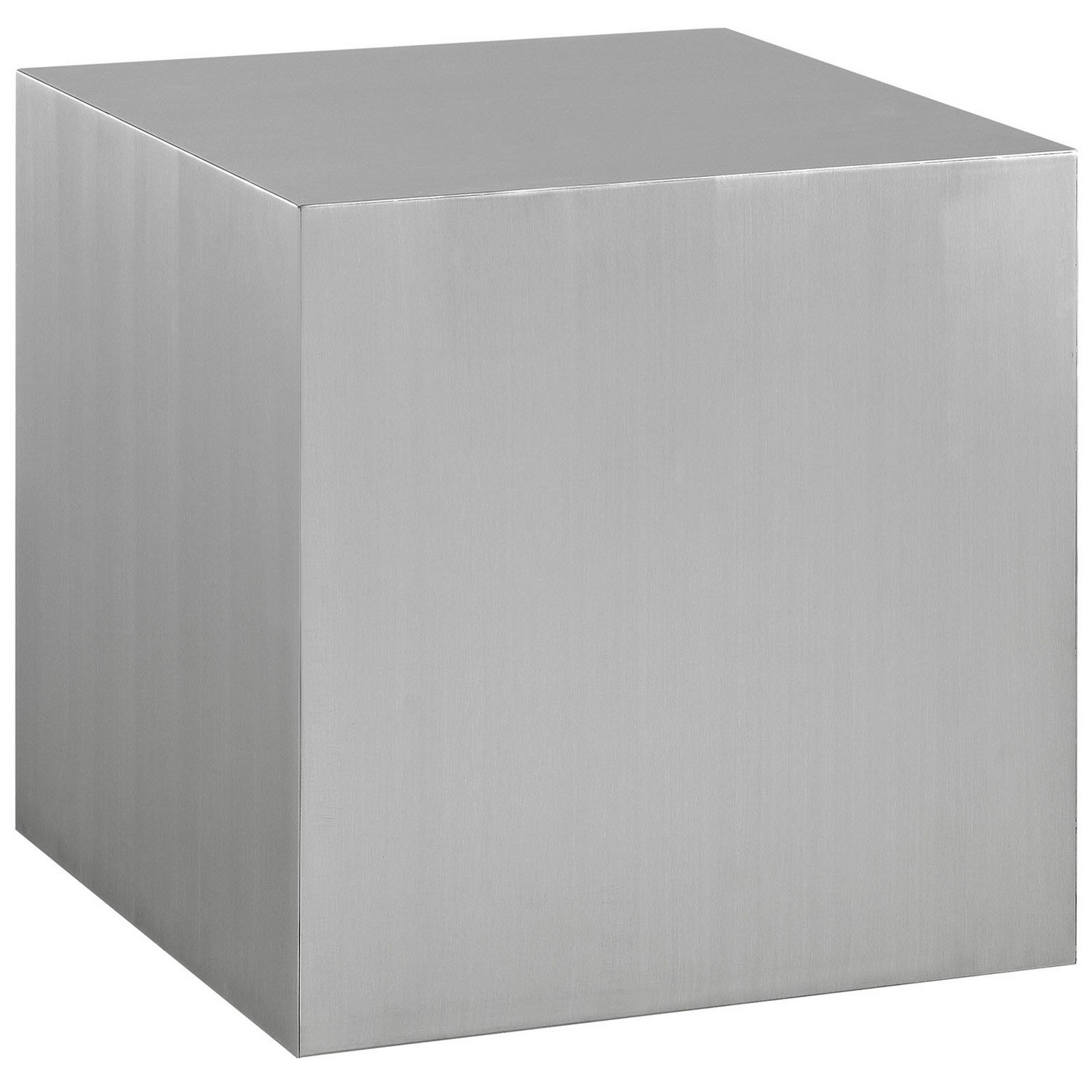 Modway Cast Stainless Steel Side Table - Silver