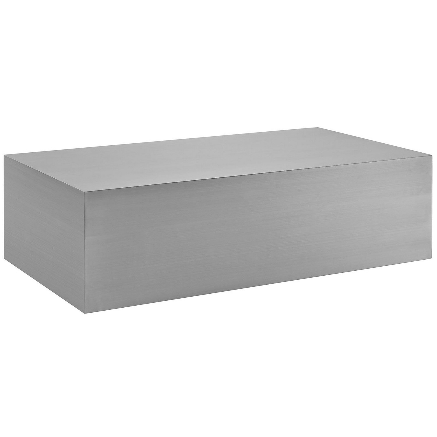 Modway Cast Stainless Steel Coffee Table - Silver