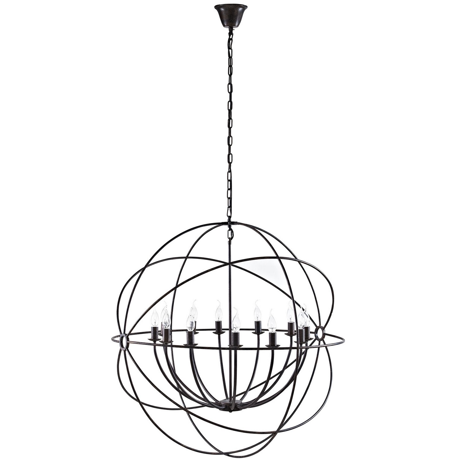 Modway Atom 39.5-inch Chandelier - Brown