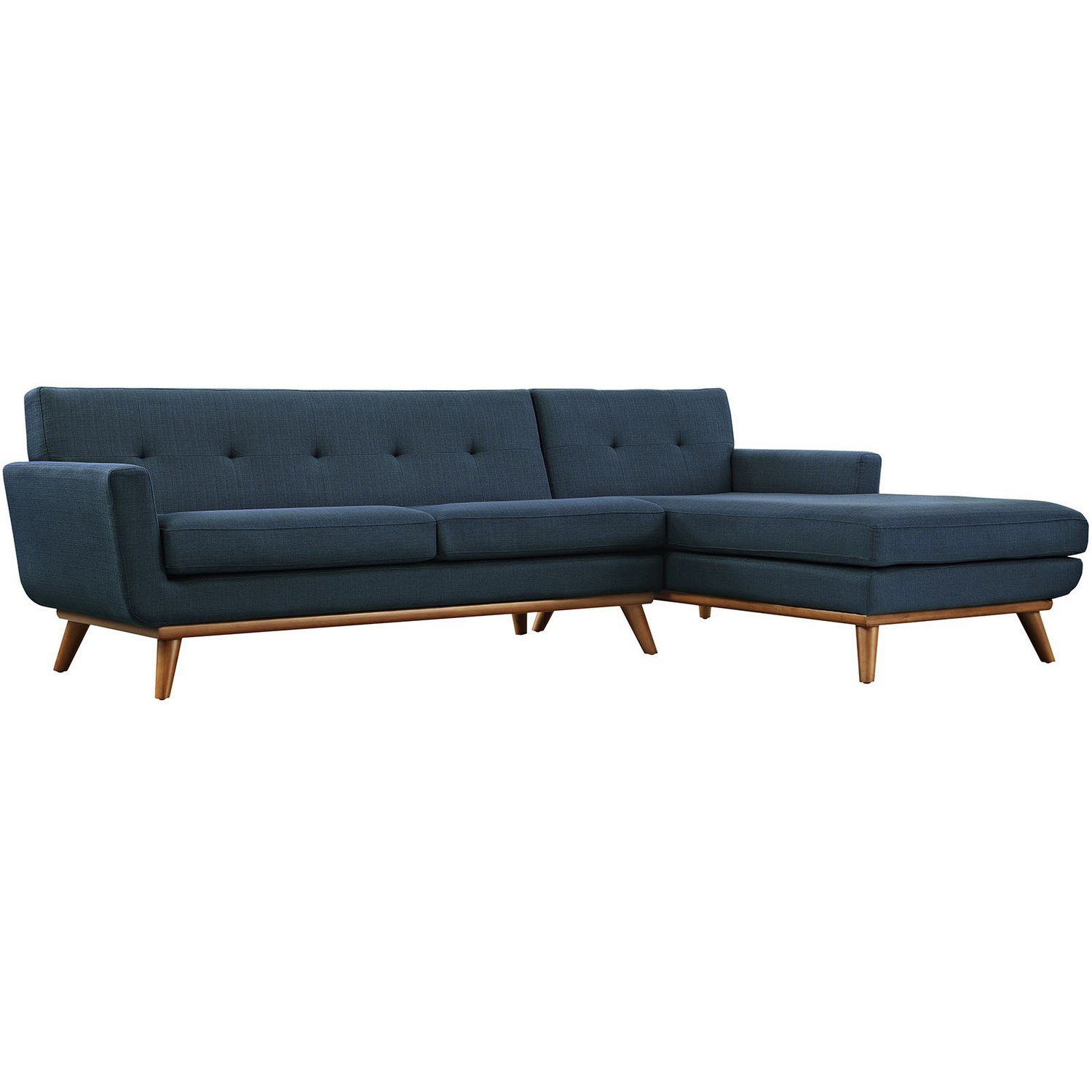 Modway Engage Right-Facing Sectional Sofa - Azure