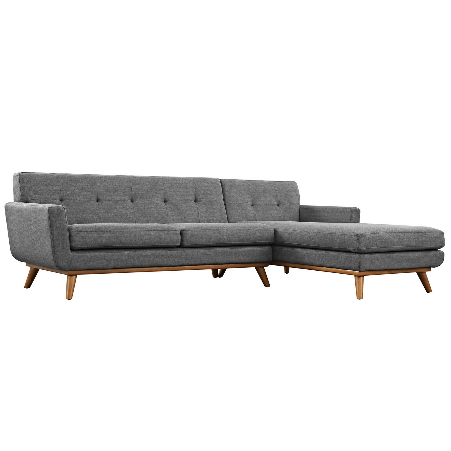 Modway Engage Right-Facing Sectional Sofa - Gray