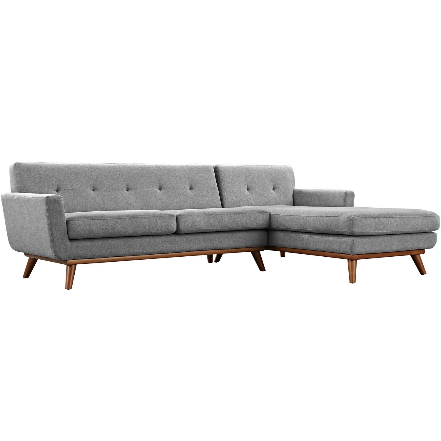Modway Engage Right-Facing Sectional Sofa - Expectation Gray