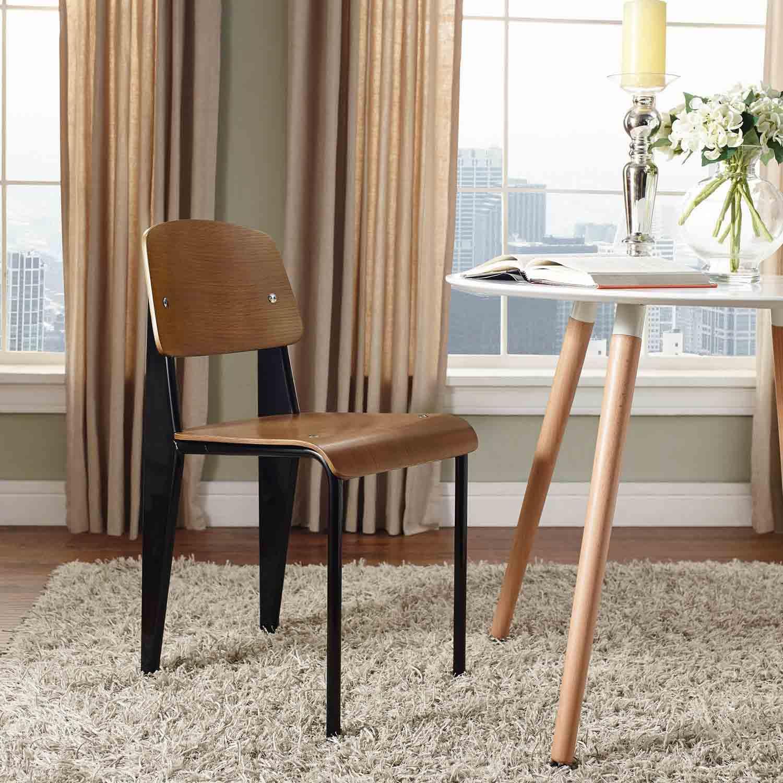 Modway Cabin Dining Side Chair - Walnut Black