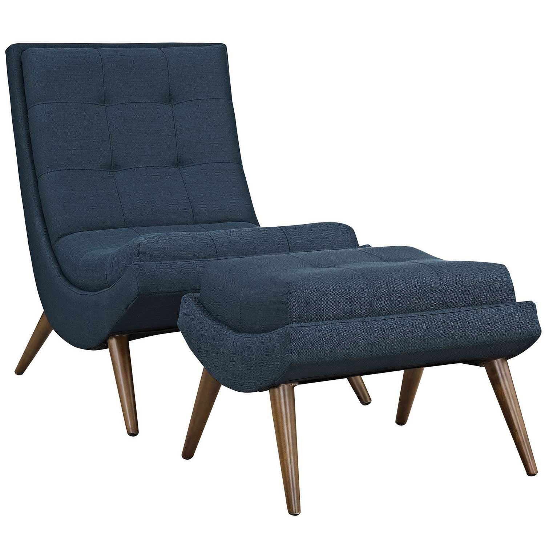 Modway Ramp Fabric Lounge Chair Set - Azure