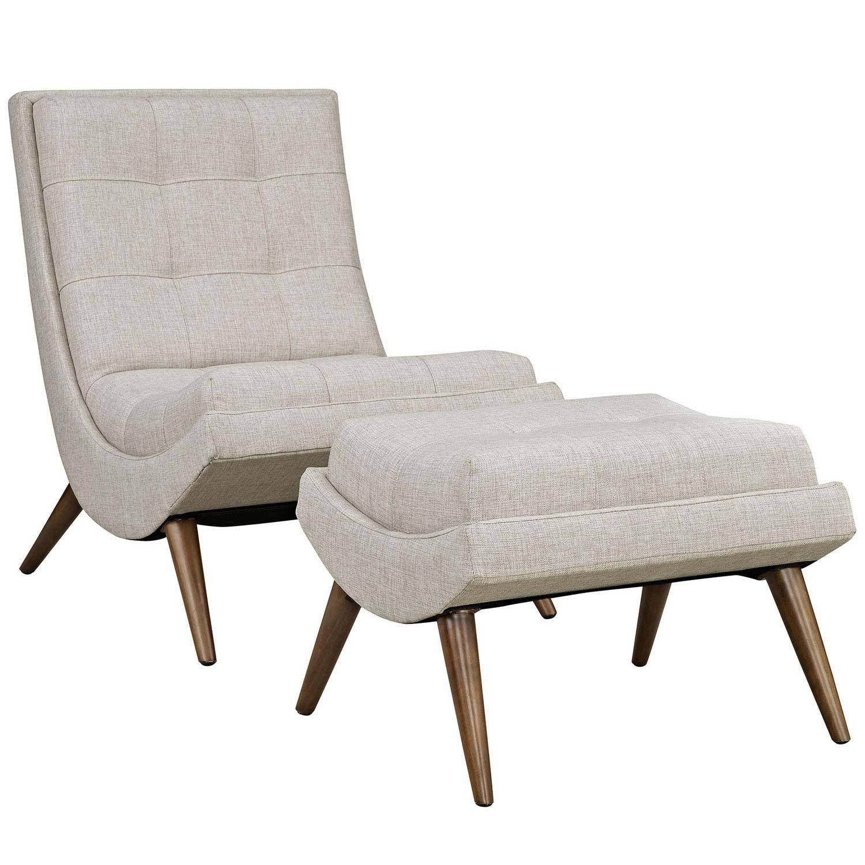 Modway Ramp Fabric Lounge Chair Set - Sand