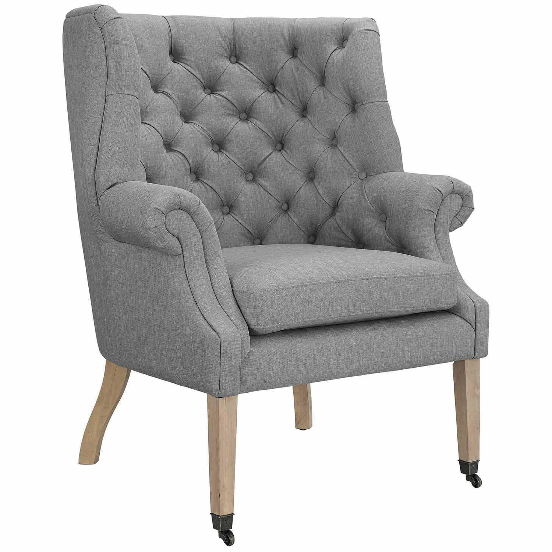 Modway Chart Lounge Chair - Light Gray