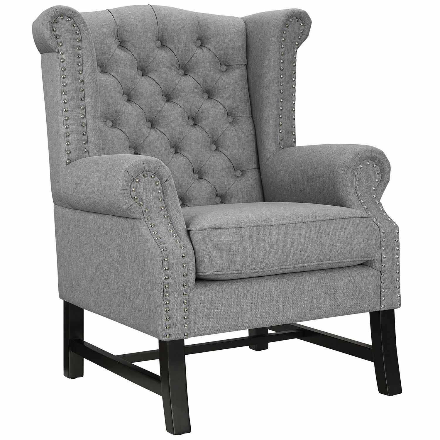 Modway Steer Fabric Arm Chair - Light Gray