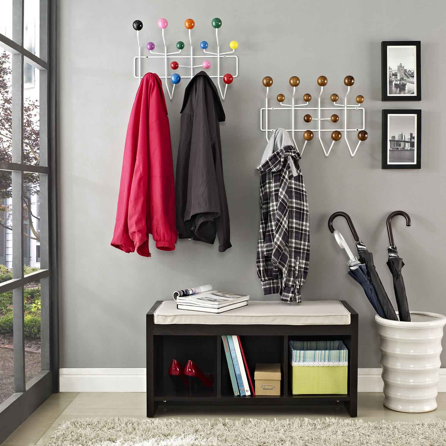 Modway Gumball Coat Rack - Multicolored