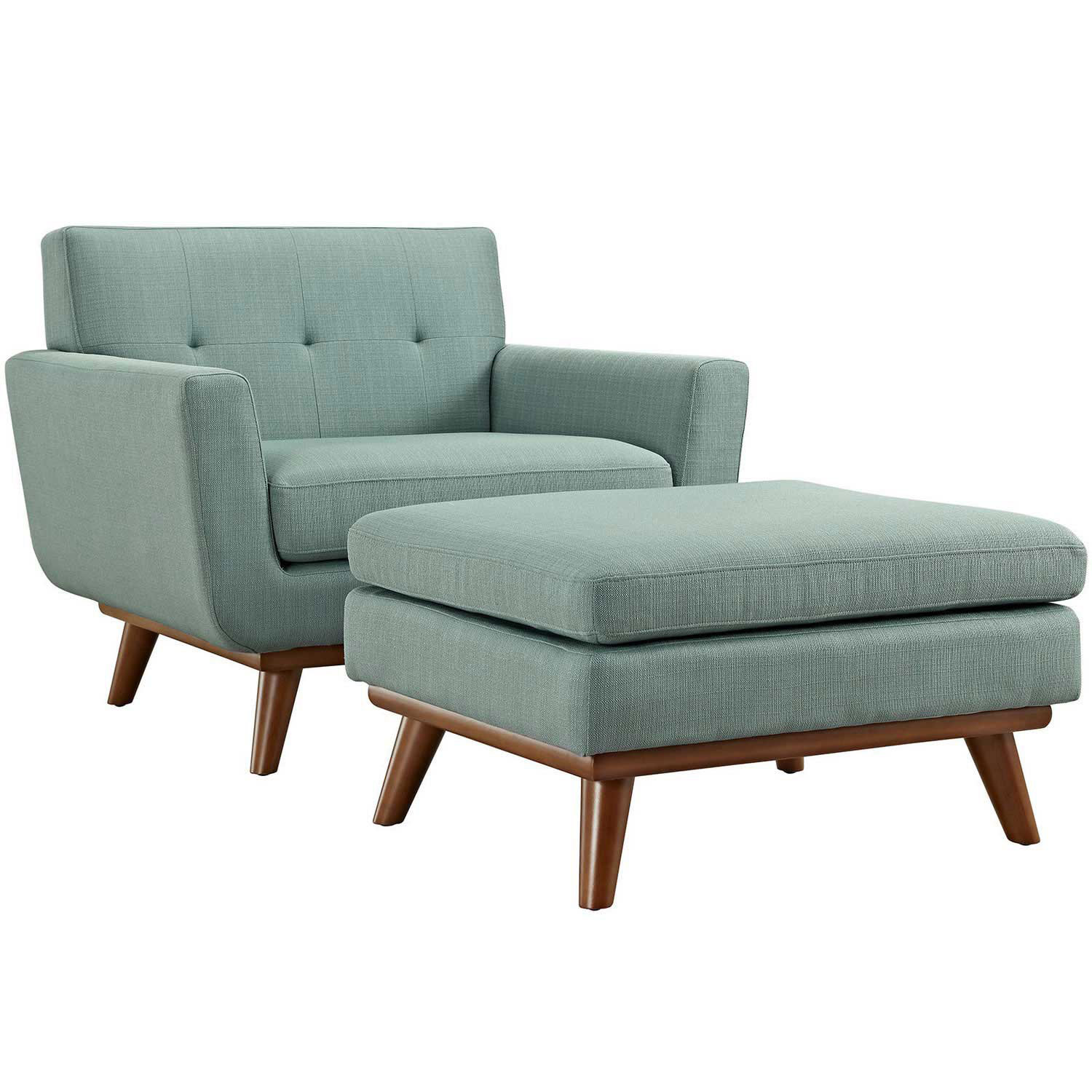 Modway Engage 2 Piece Chair and Ottoman - Laguna