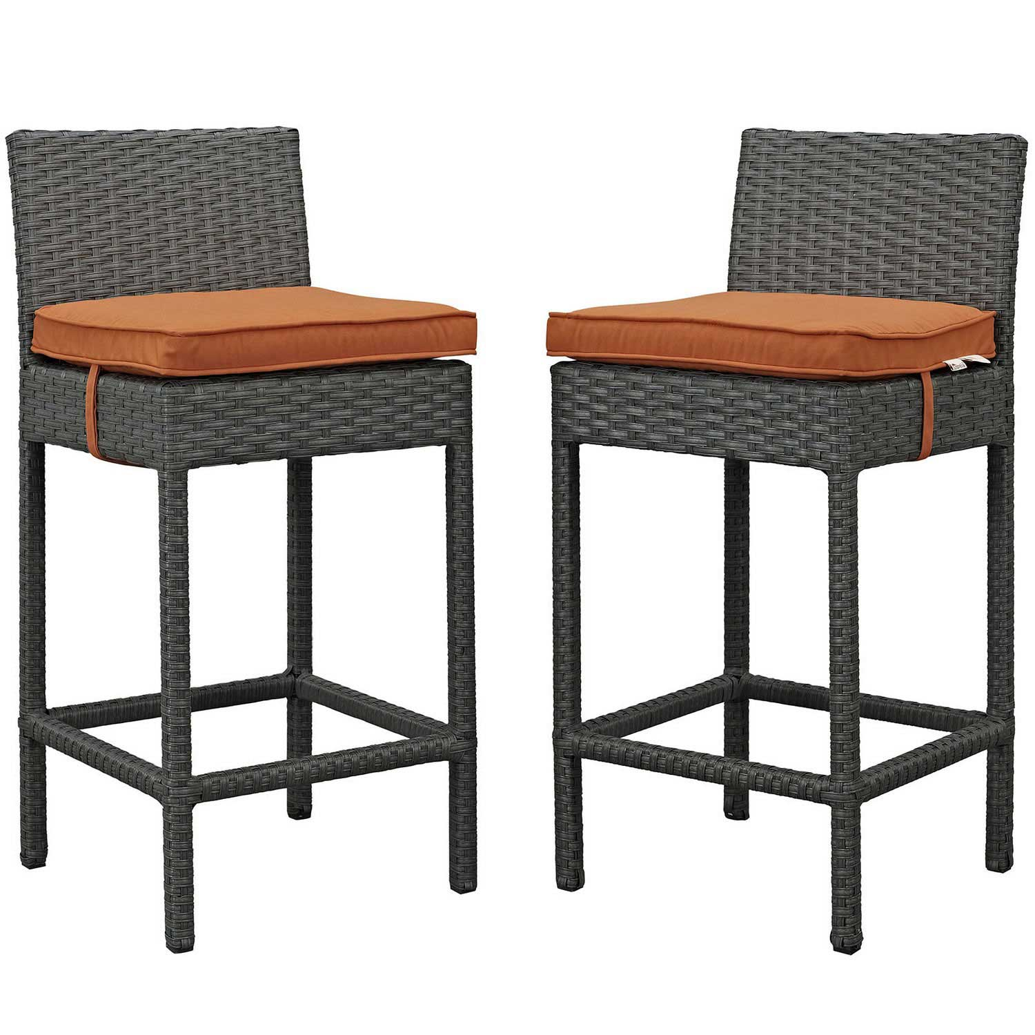 Modway Sojourn 2 Piece Outdoor Patio Sunbrella Pub Set - Canvas Tuscan