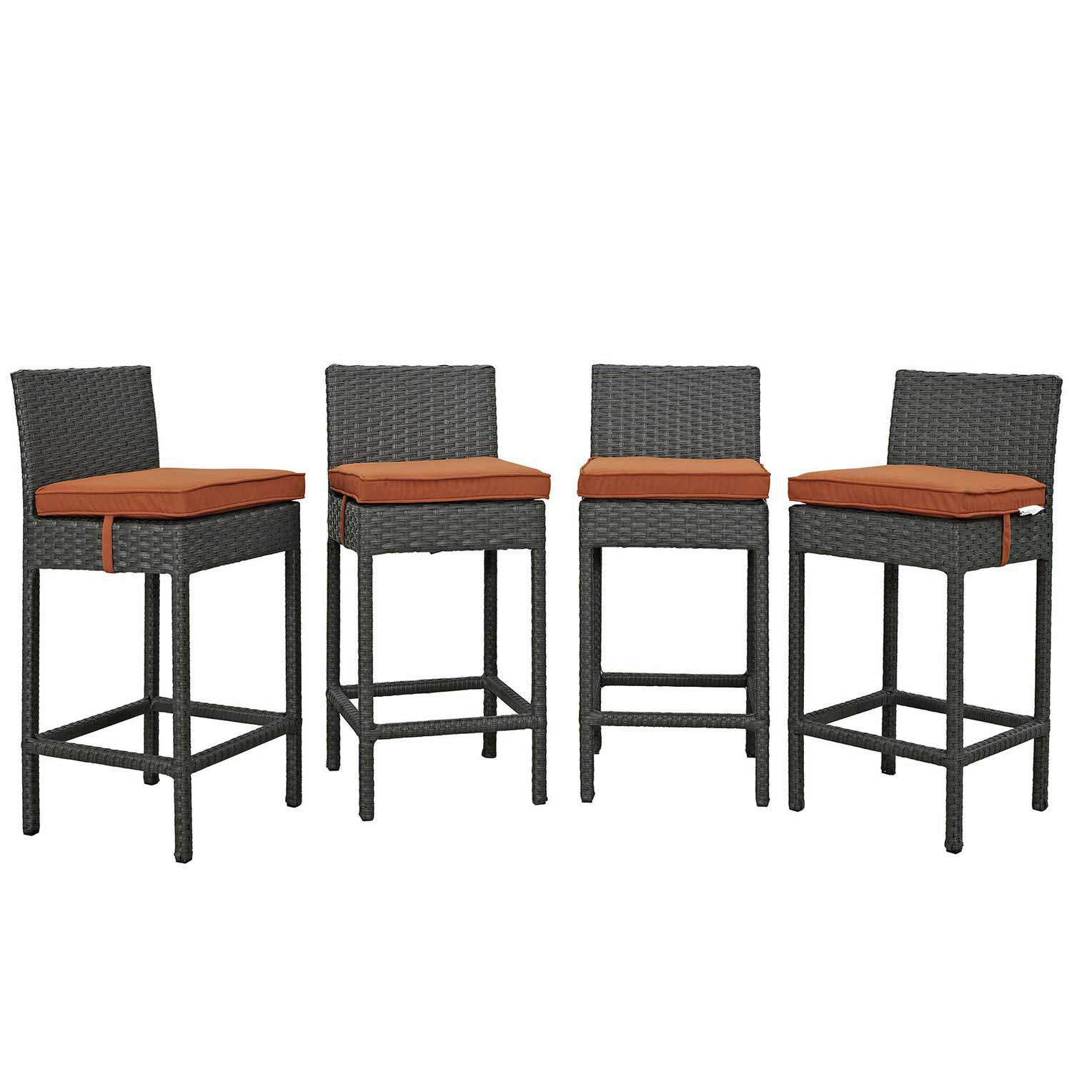 Modway Sojourn 4 Piece Outdoor Patio Sunbrella Pub Set - Canvas Tuscan