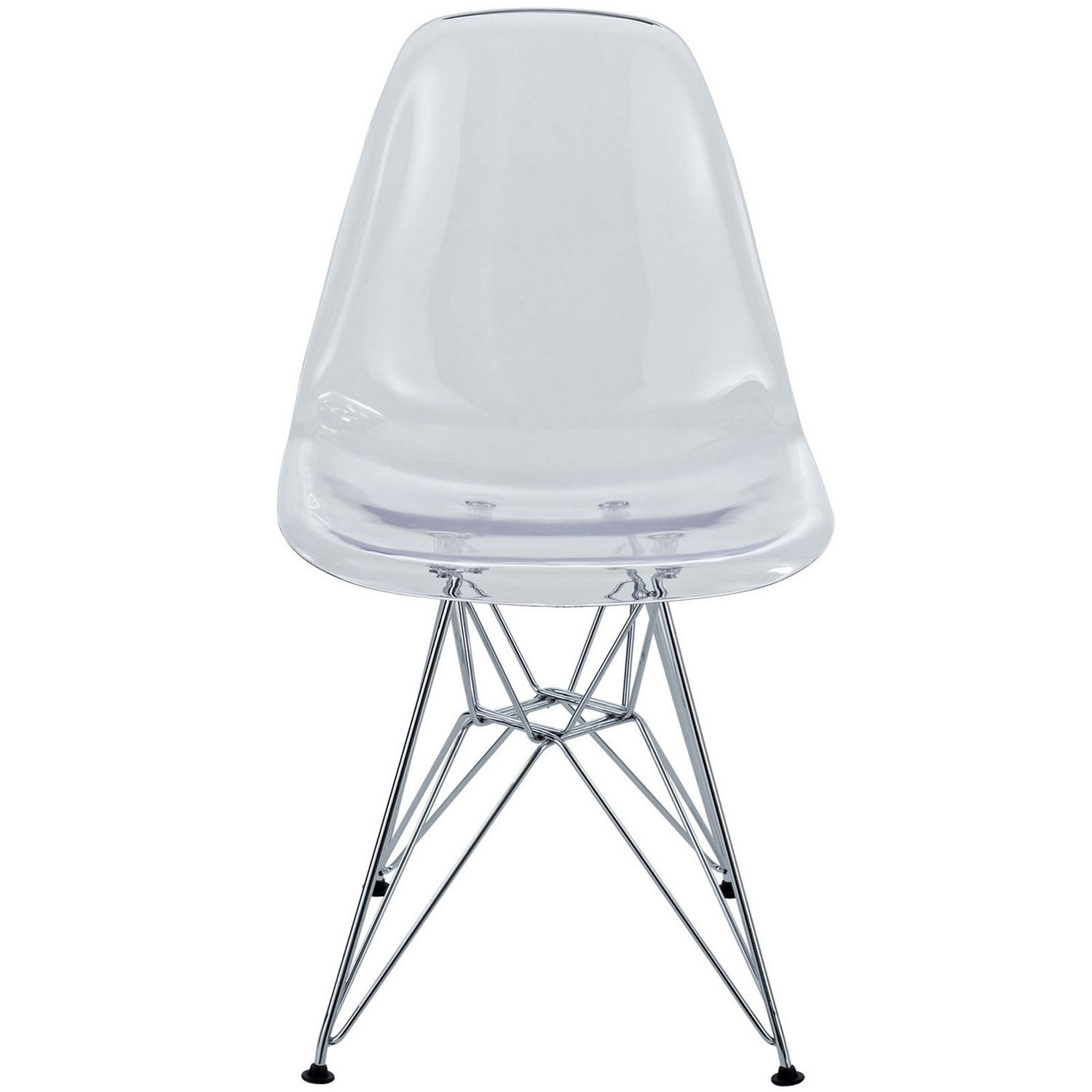 Modway Paris Dining Polycarbonate Side Chair - Clear