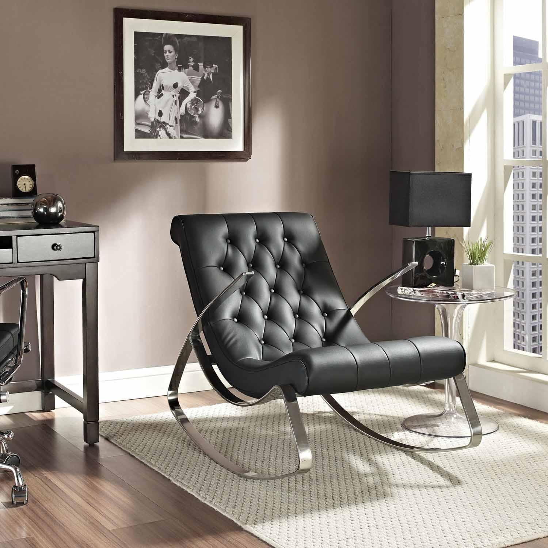 Modway Canoe Rocking Chair - Black