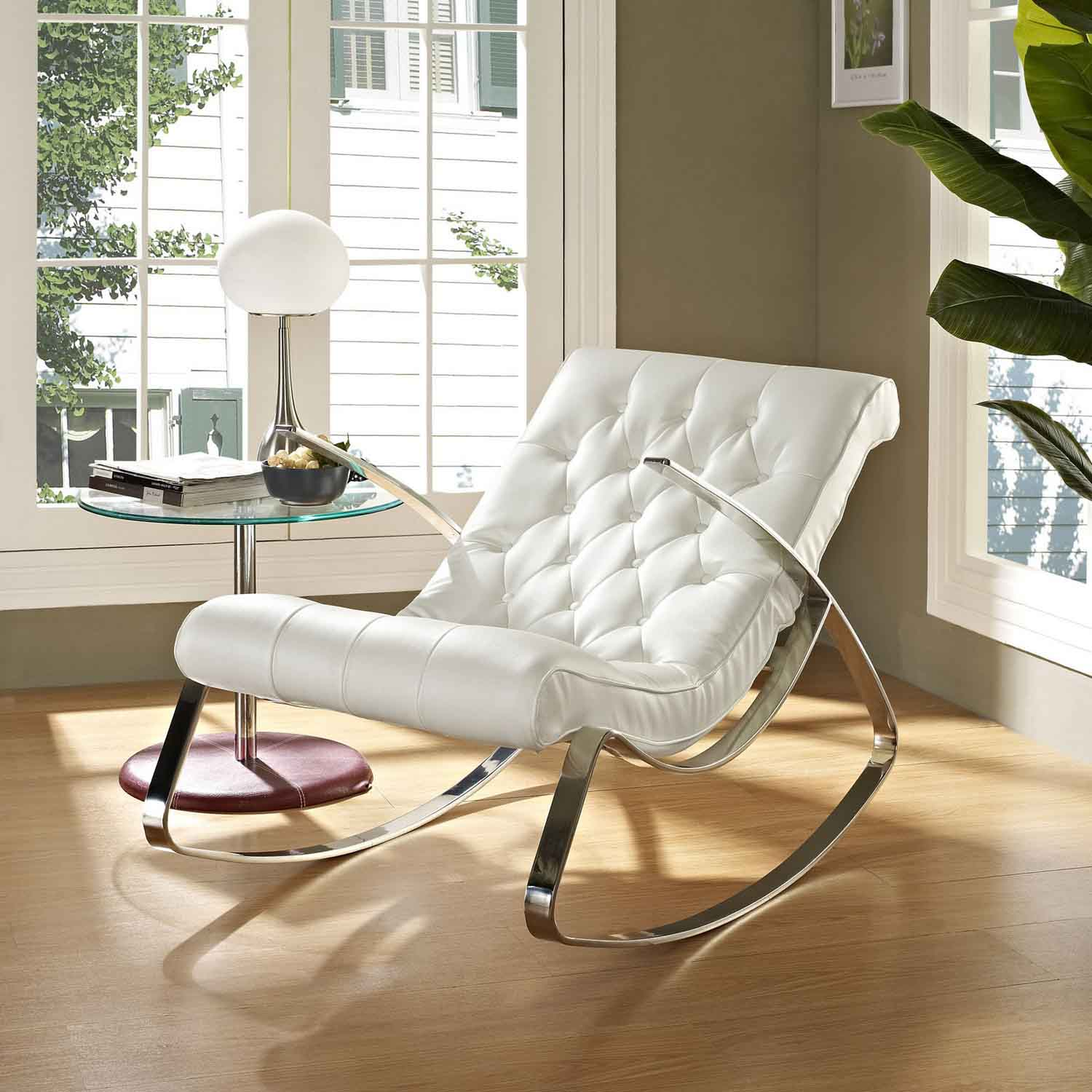 Modway Canoe Rocking Chair - White
