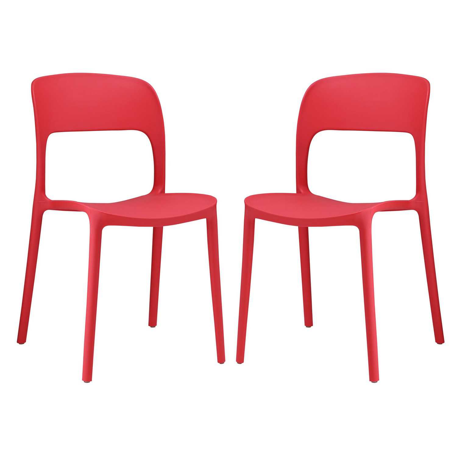 Modway Hop Dining Chair - Set of 2 - Red