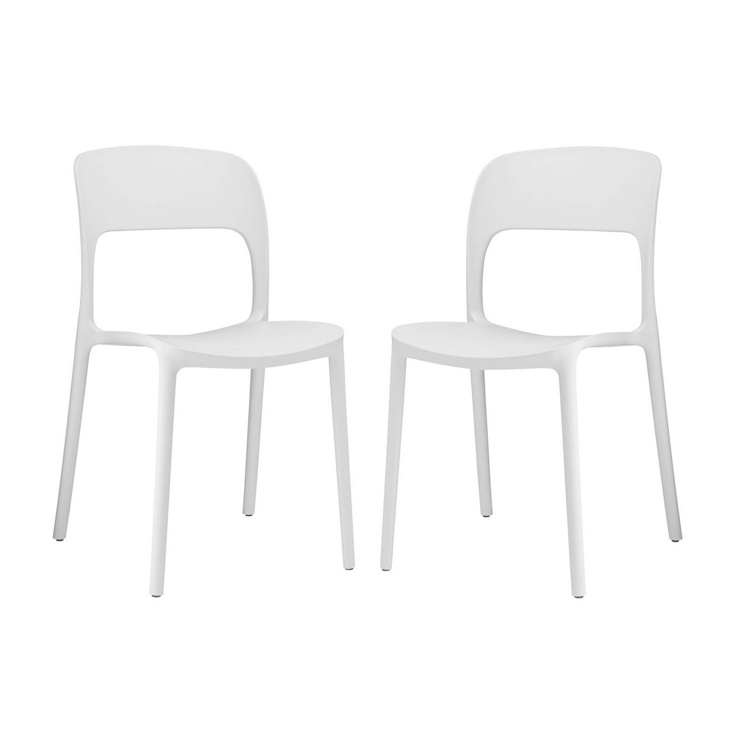 Modway Hop Dining Chair - Set of 2 - White