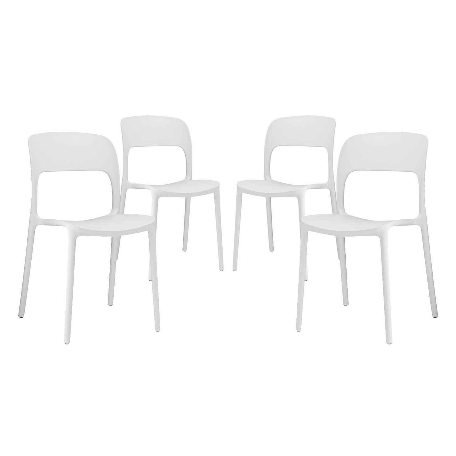 Modway Hop Dining Chair - Set of 4 - White