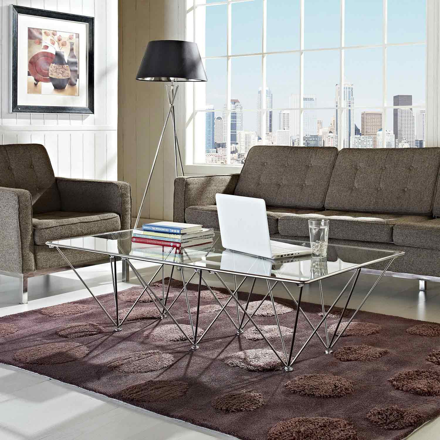 Modway Prism Rectangle Coffee Table - Clear