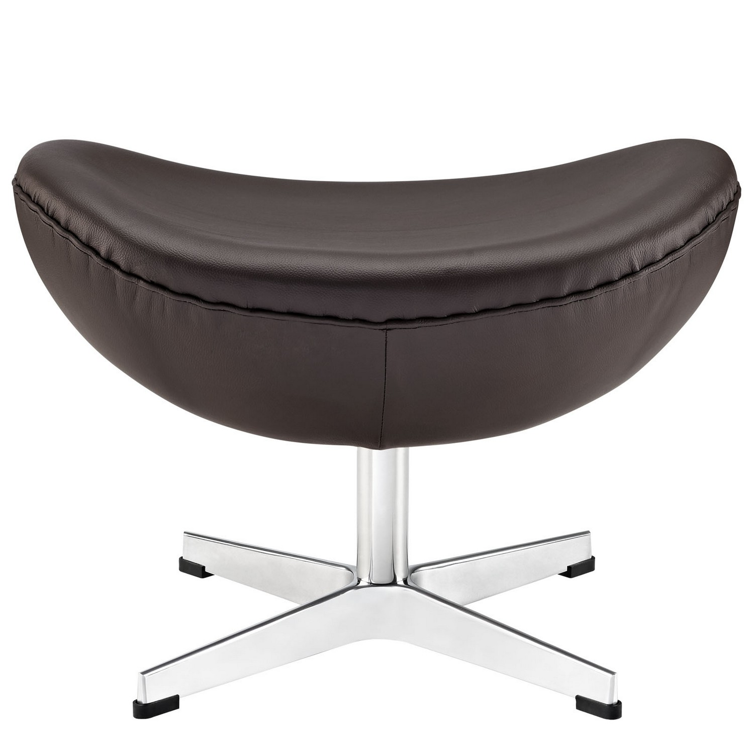 Modway Glove Leather Ottoman - Brown