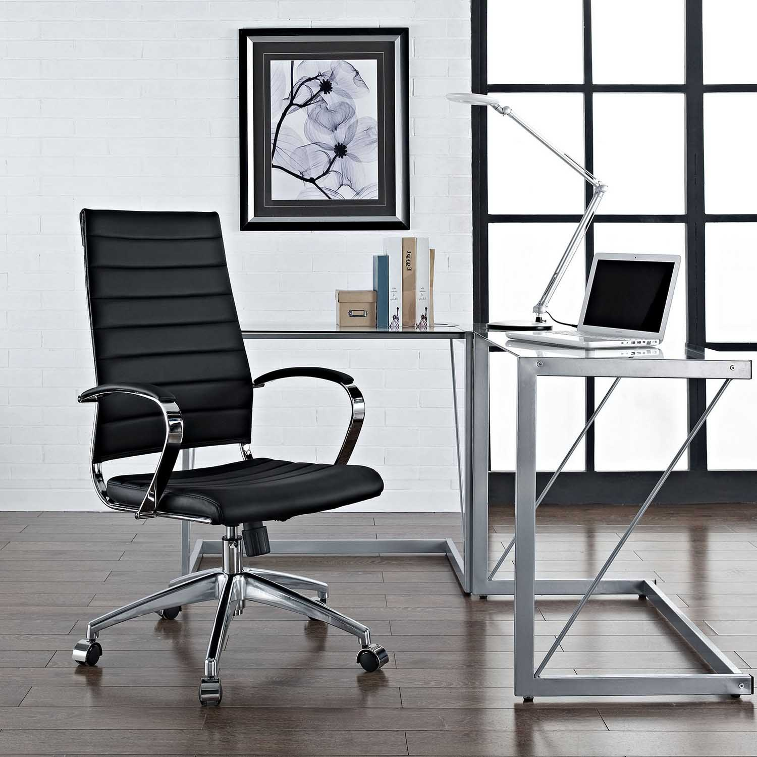 office chair black eei studio the designs blk modway home depot chairs