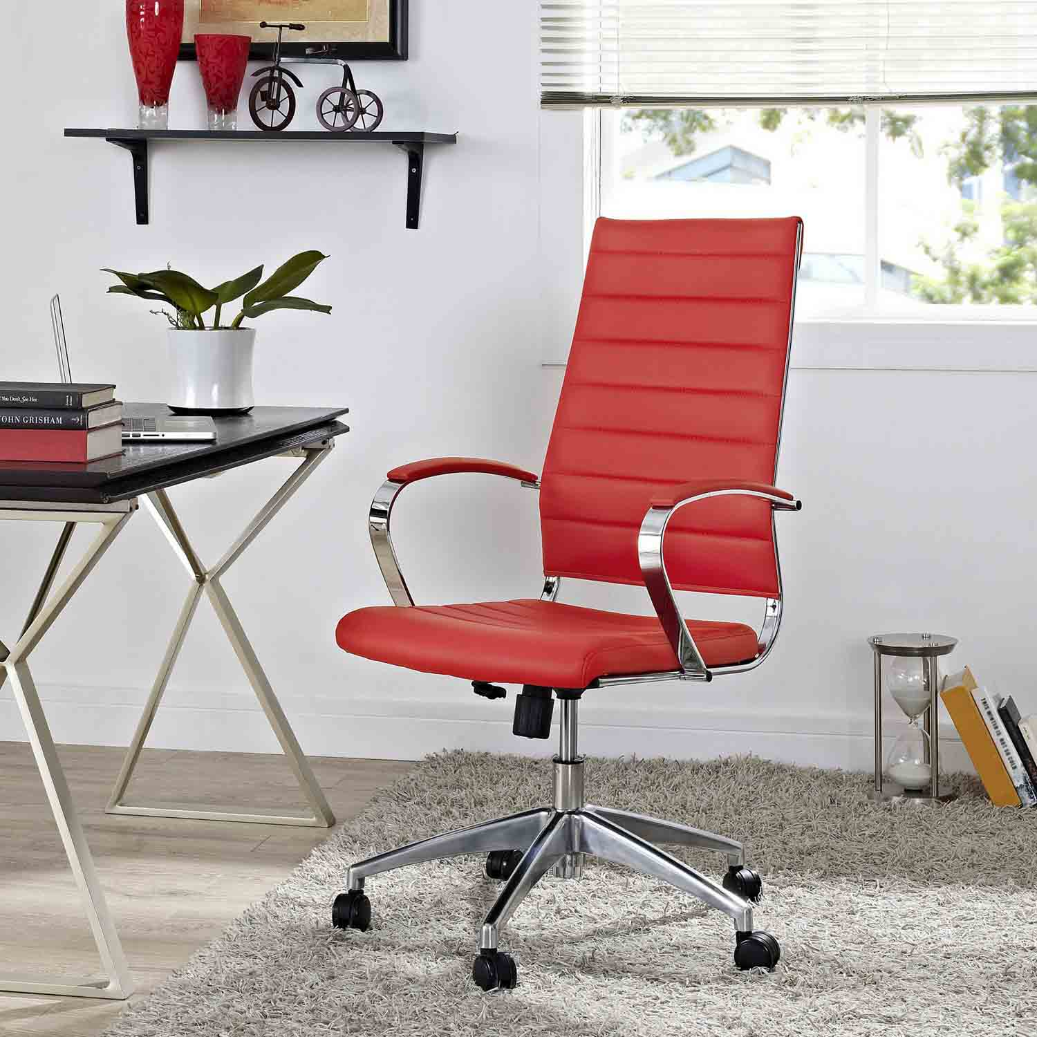 Modway Jive Highback Office Chair - Red