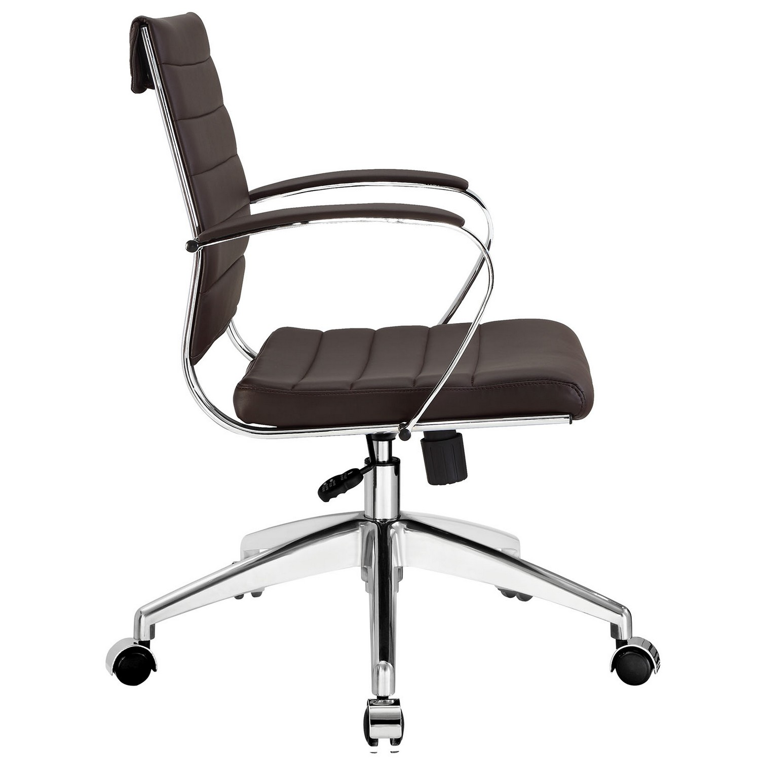 Modway Jive Mid Back Office Chair - Brown