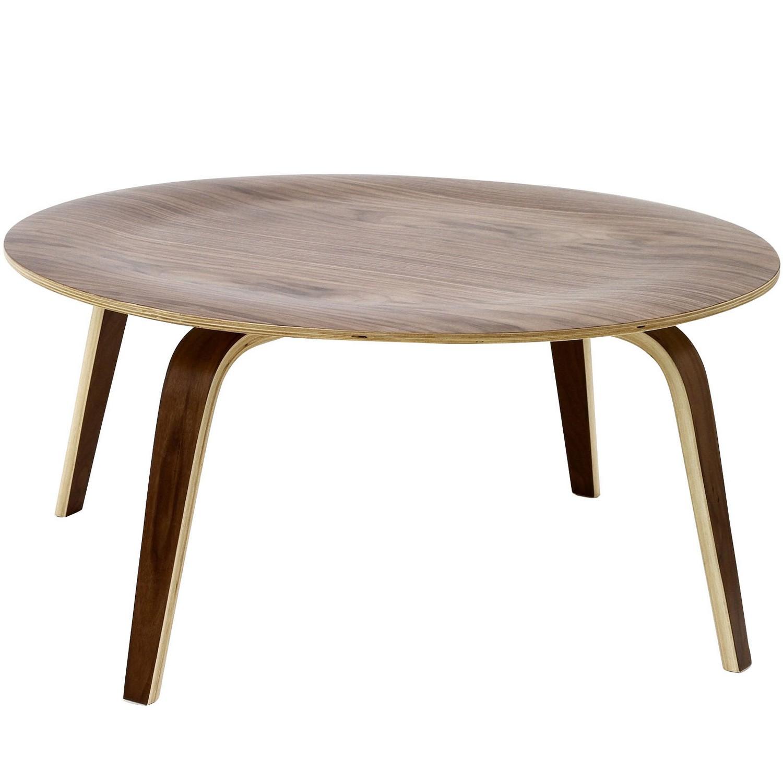 Modway Plywood Coffee Table - Walnut