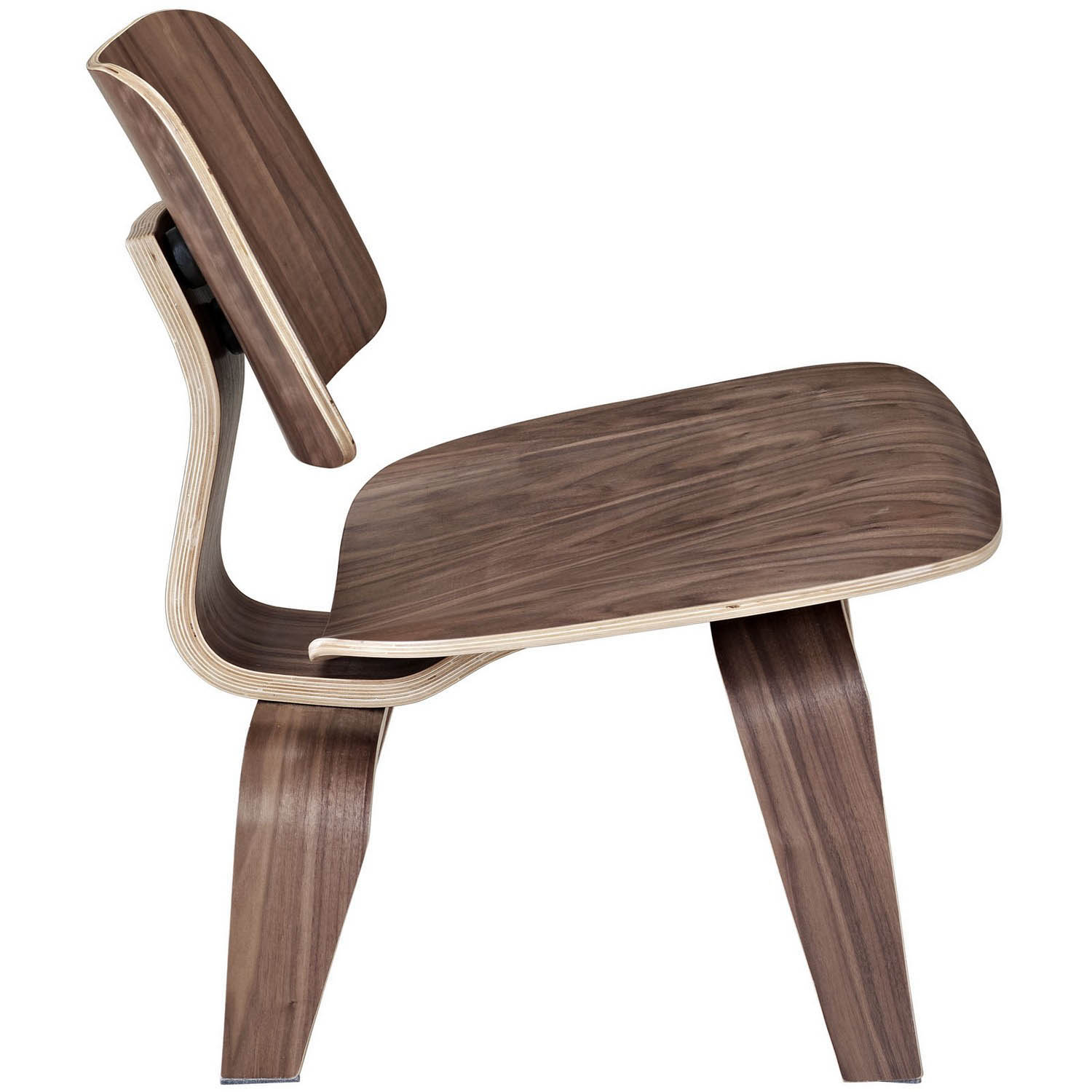 Modway Fathom Lounge Chair - Walnut