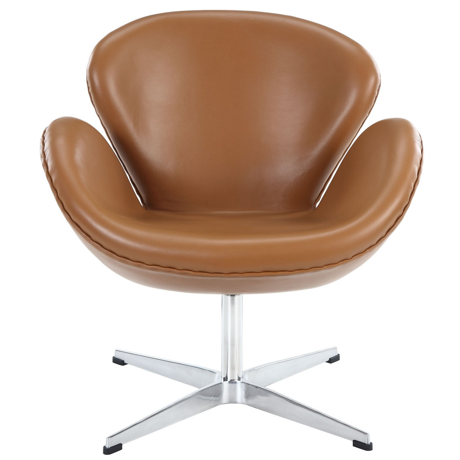 Modway Wing Leather Lounge Chair - Terracotta