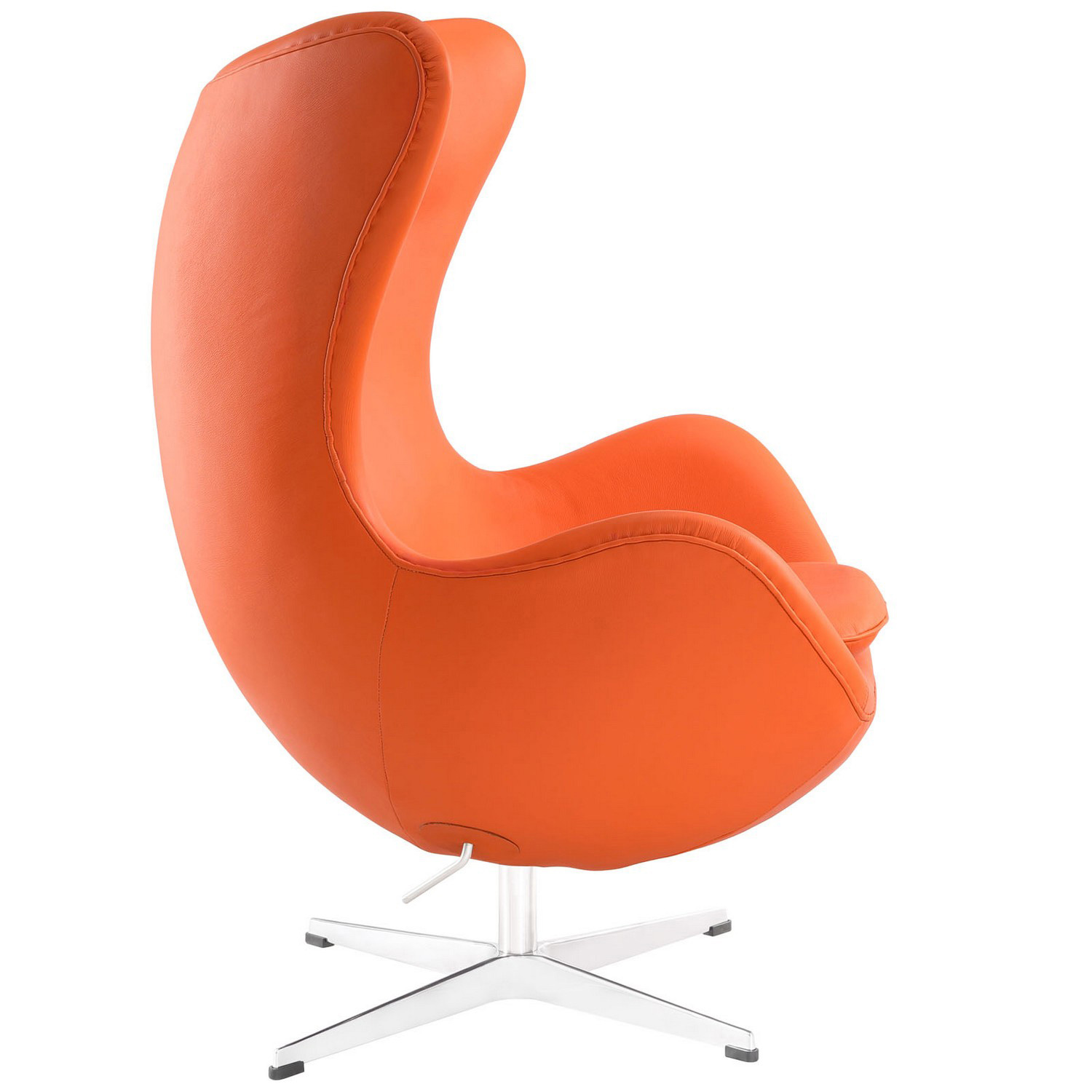 Modway Glove Leather Lounge Chair - Orange