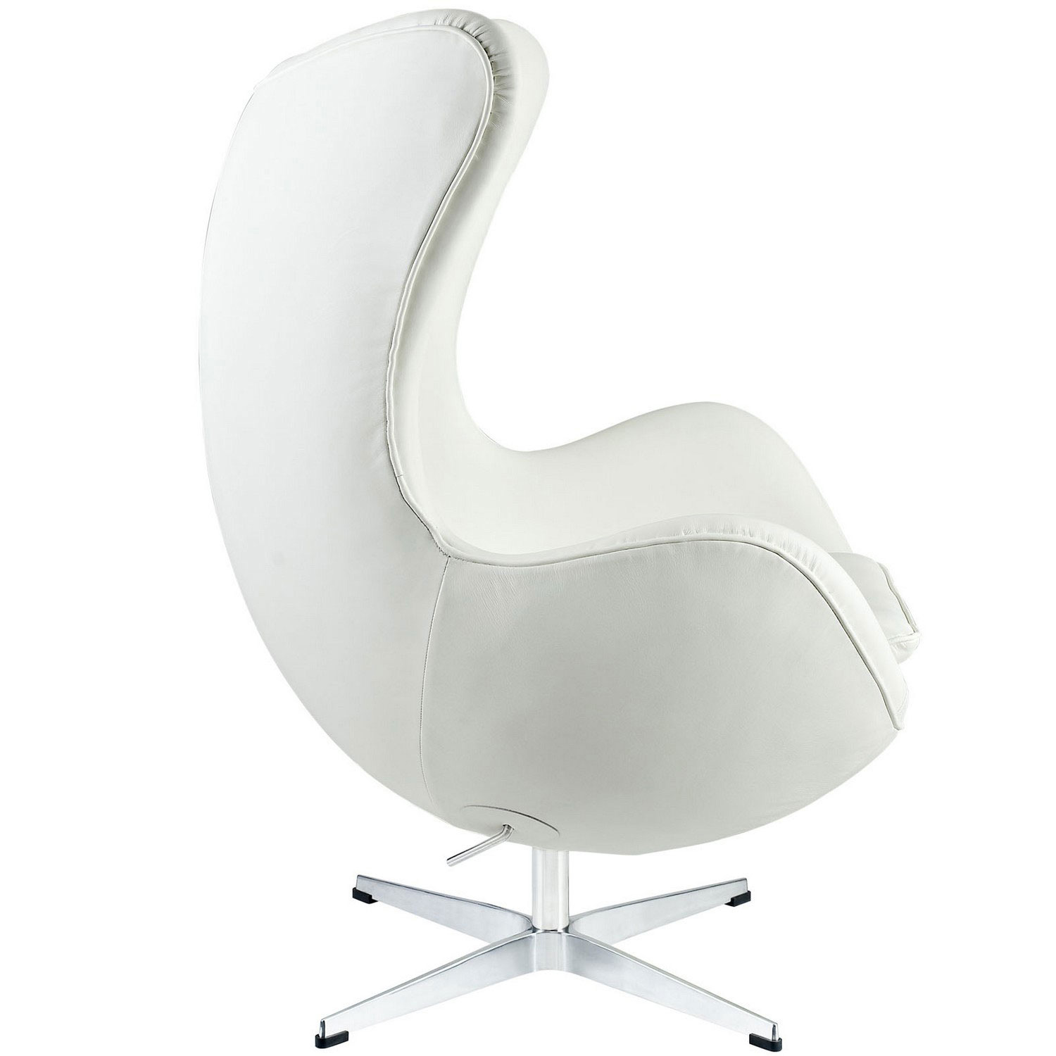 Modway Glove Leather Lounge Chair   White