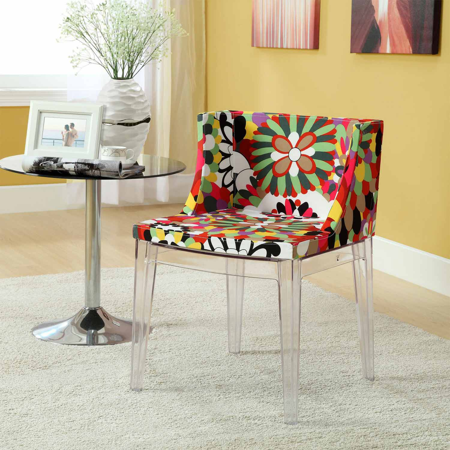 Modway Flower Dining Side Chair - Clear