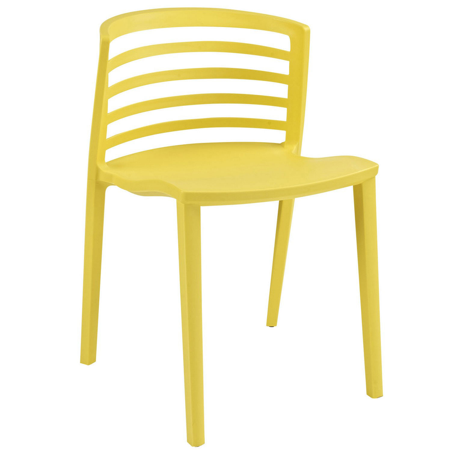 Modway Curvy Dining Side Chair - Yellow