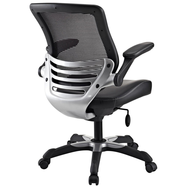 Modway Edge Vinyl Office Chair - Black