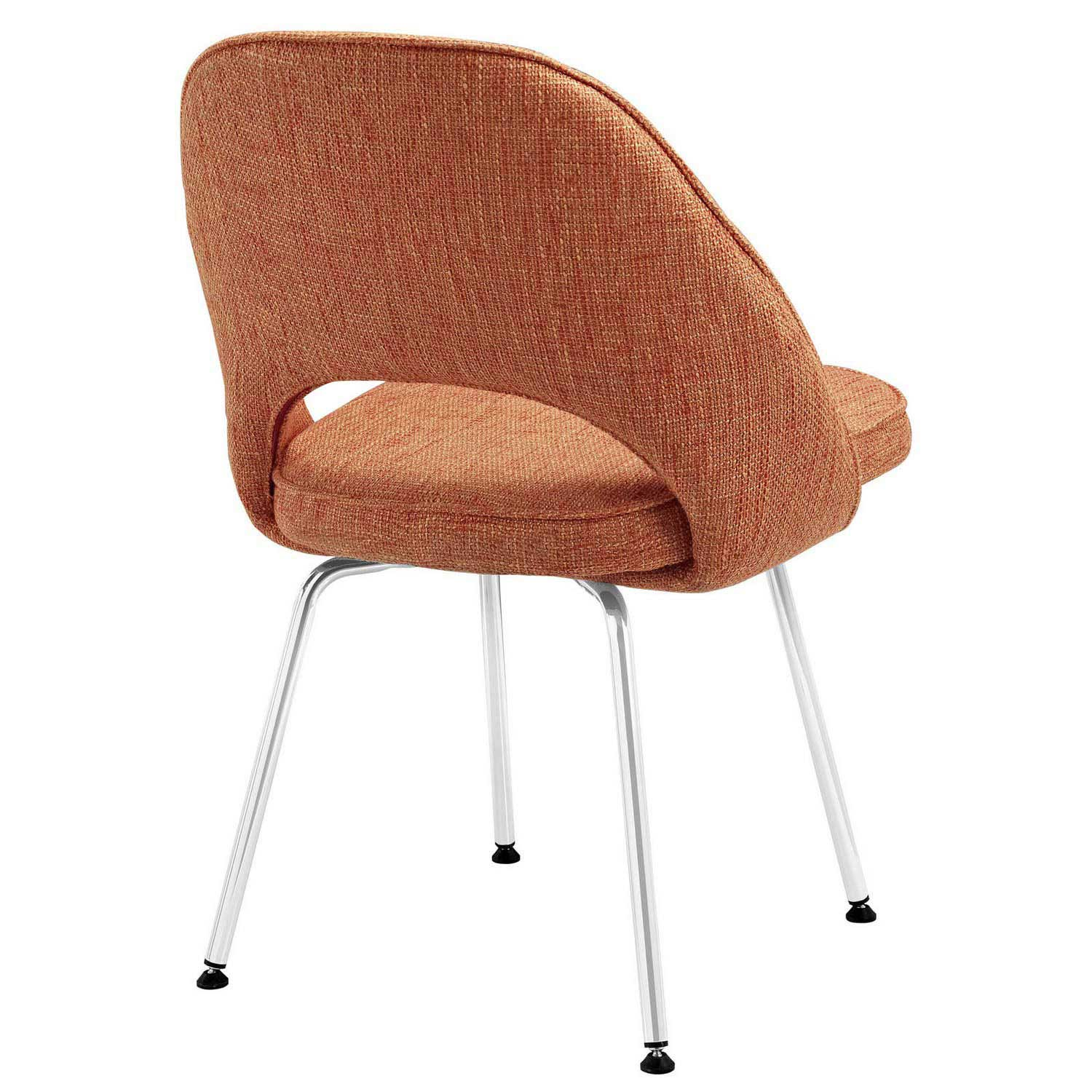 Modway Cordelia Dining Fabric Side Chair - Orange
