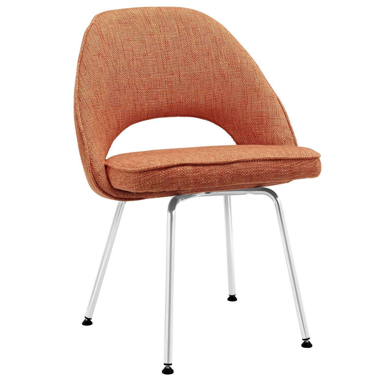 Modway Cordelia Dining Fabric Side Chair - Orange