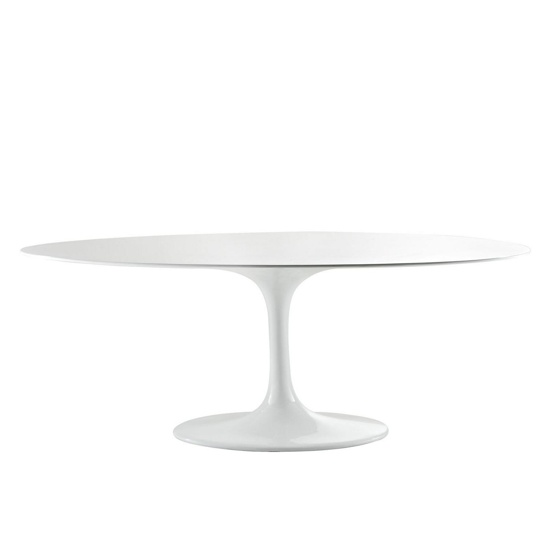 Modway Lippa 78 Fiberglass Dining Table - White
