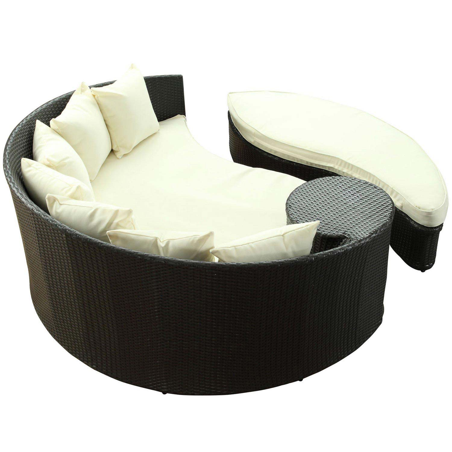 Modway Taiji Outdoor Patio Daybed - Espresso/White