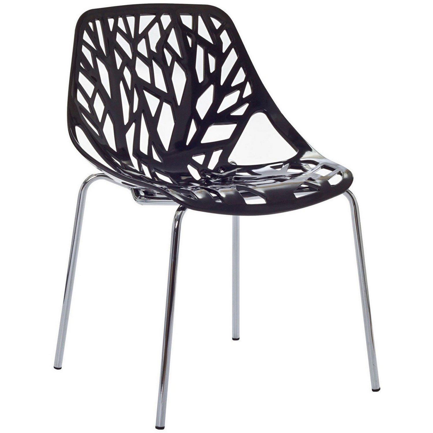 Modway Stencil Dining Side Chair - Black