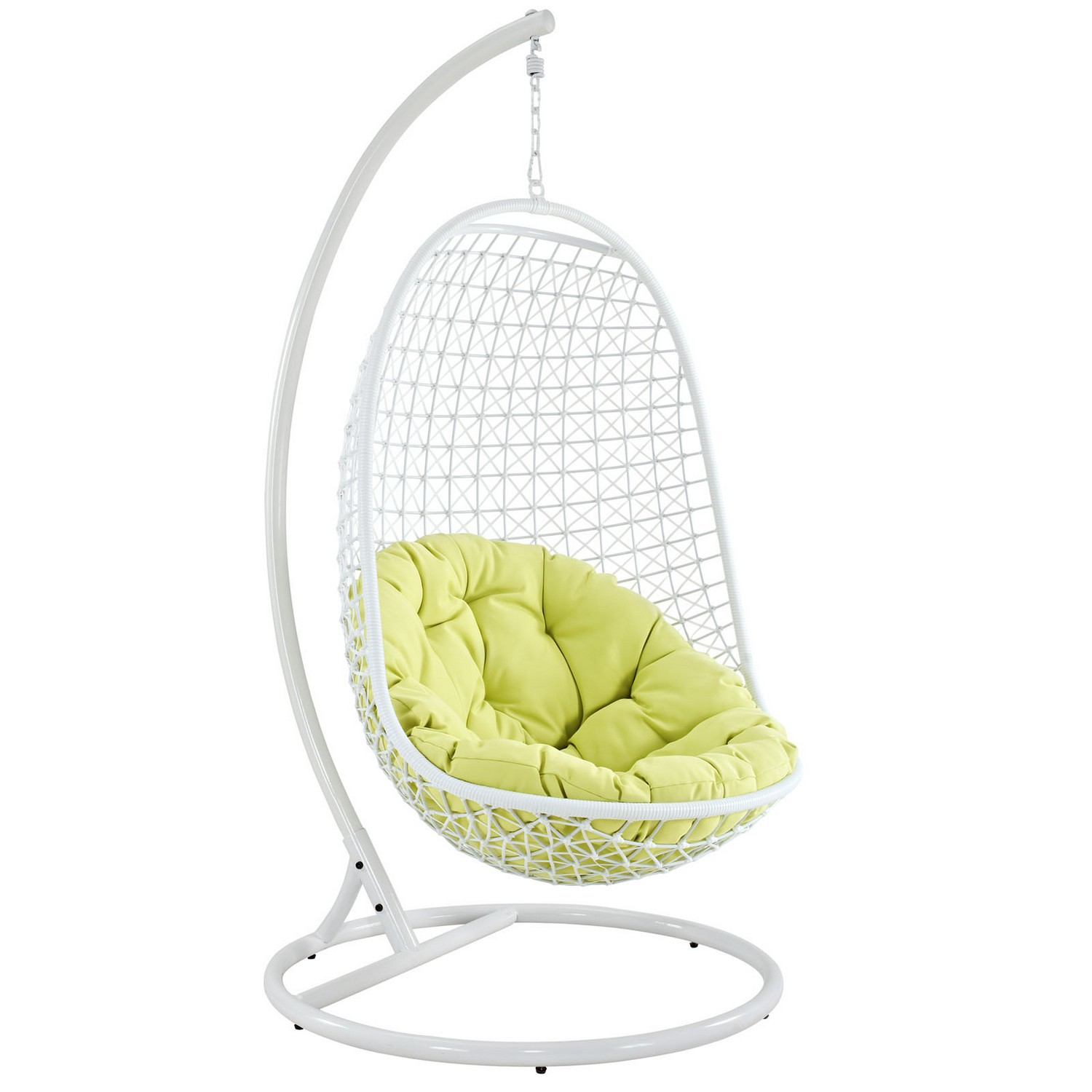 Modway Encounter Swing Outdoor Patio Lounge Chair - White