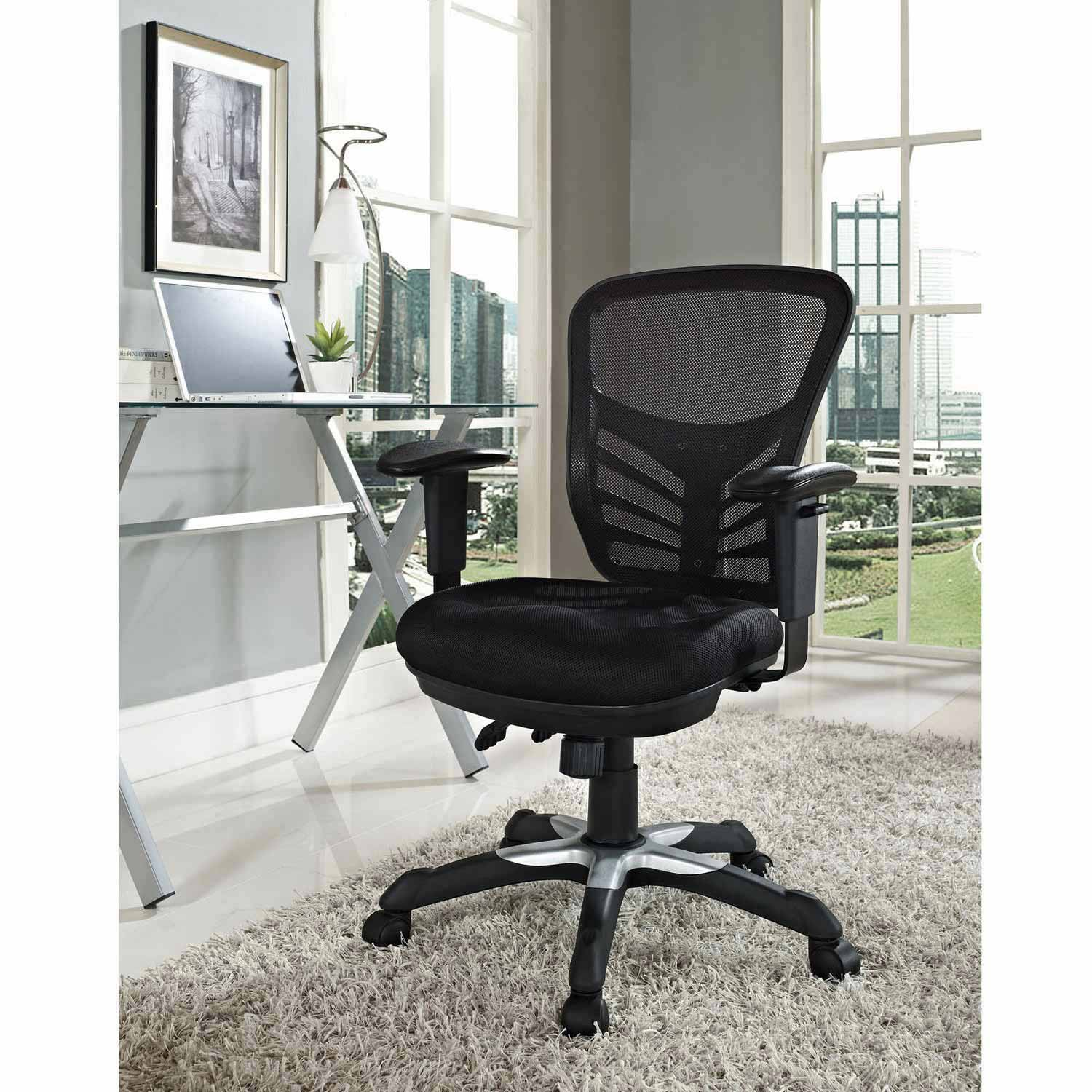 modway articulate mesh office chair black mw eei 757 blk at