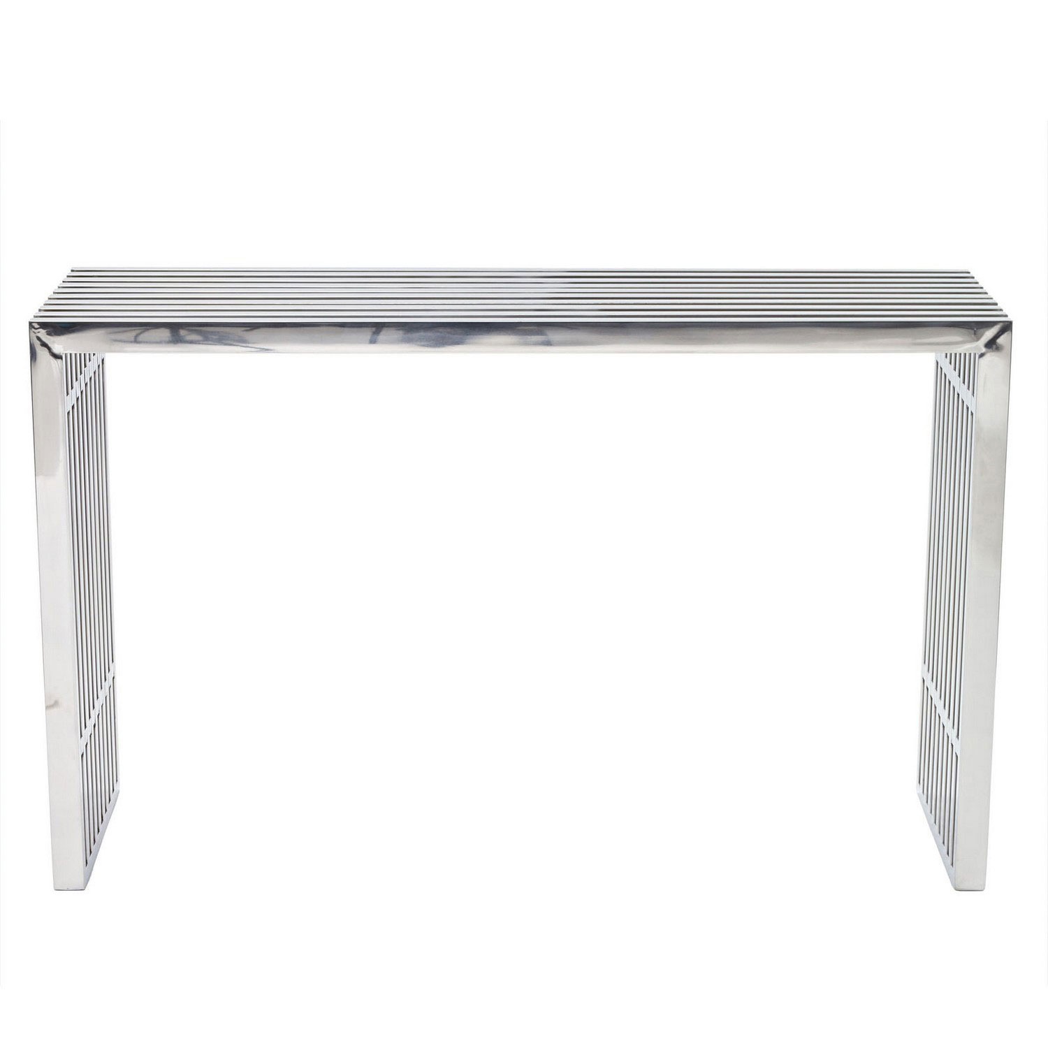 Modway Gridiron Console Table - Silver