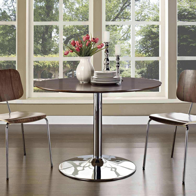 Modway Rostrum Dining Table - Walnut