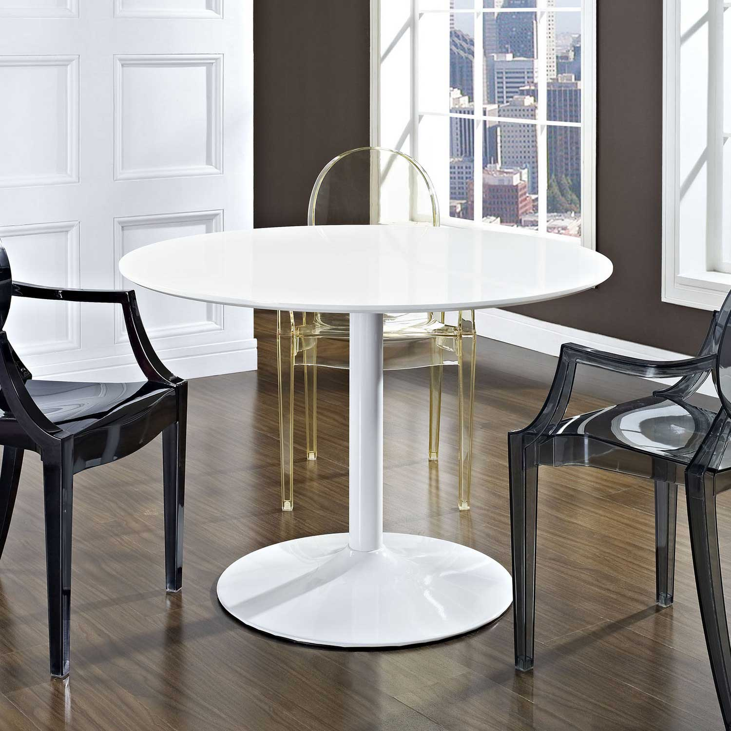 Modway Revolve Dining Table - White