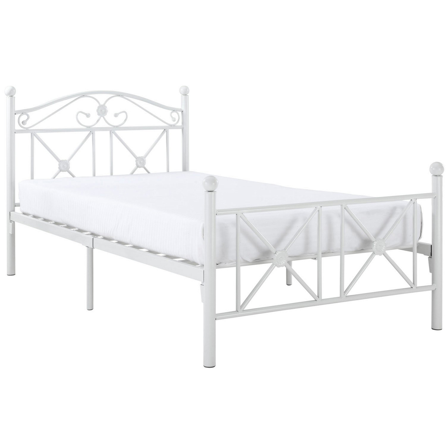 Modway Cottage Twin Bed - White