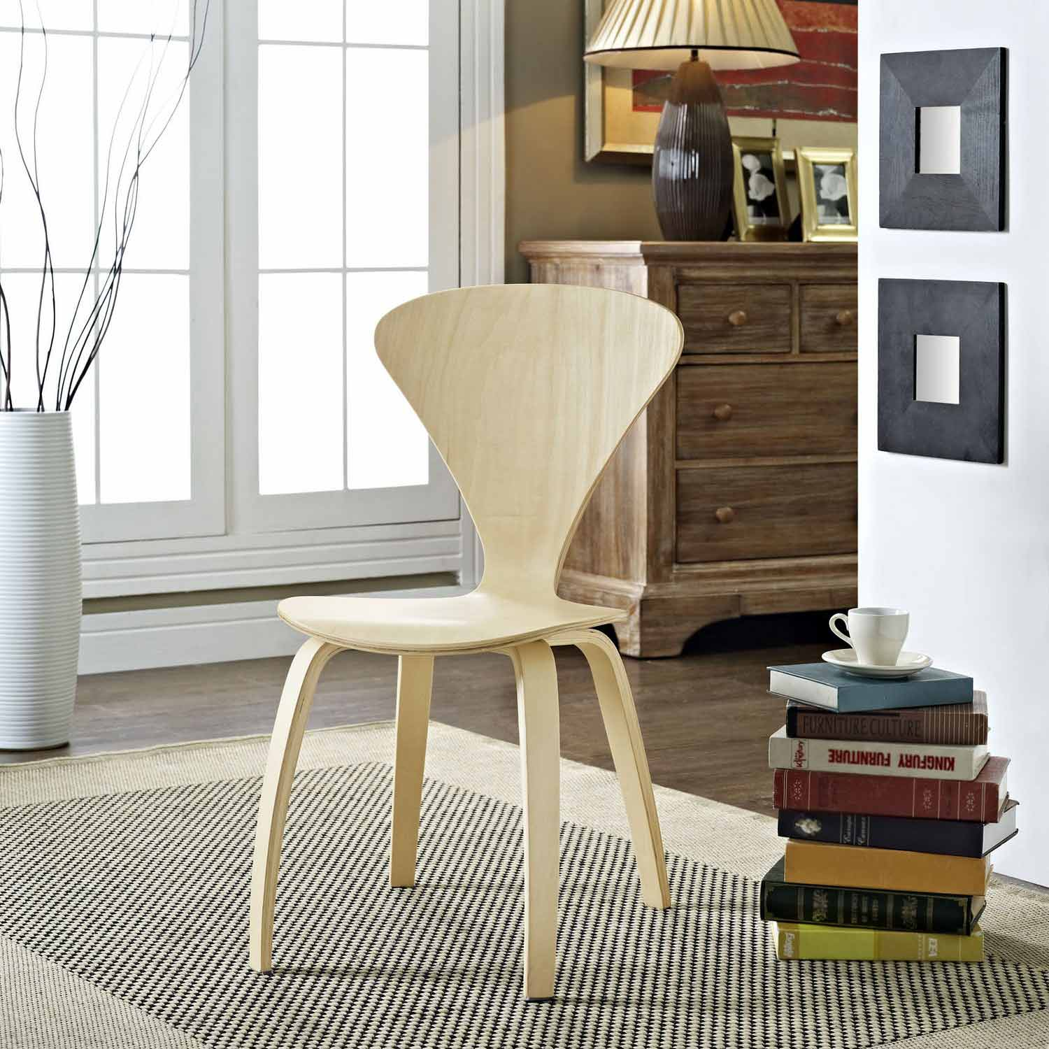 Modway Vortex Dining Side Chair - Natural