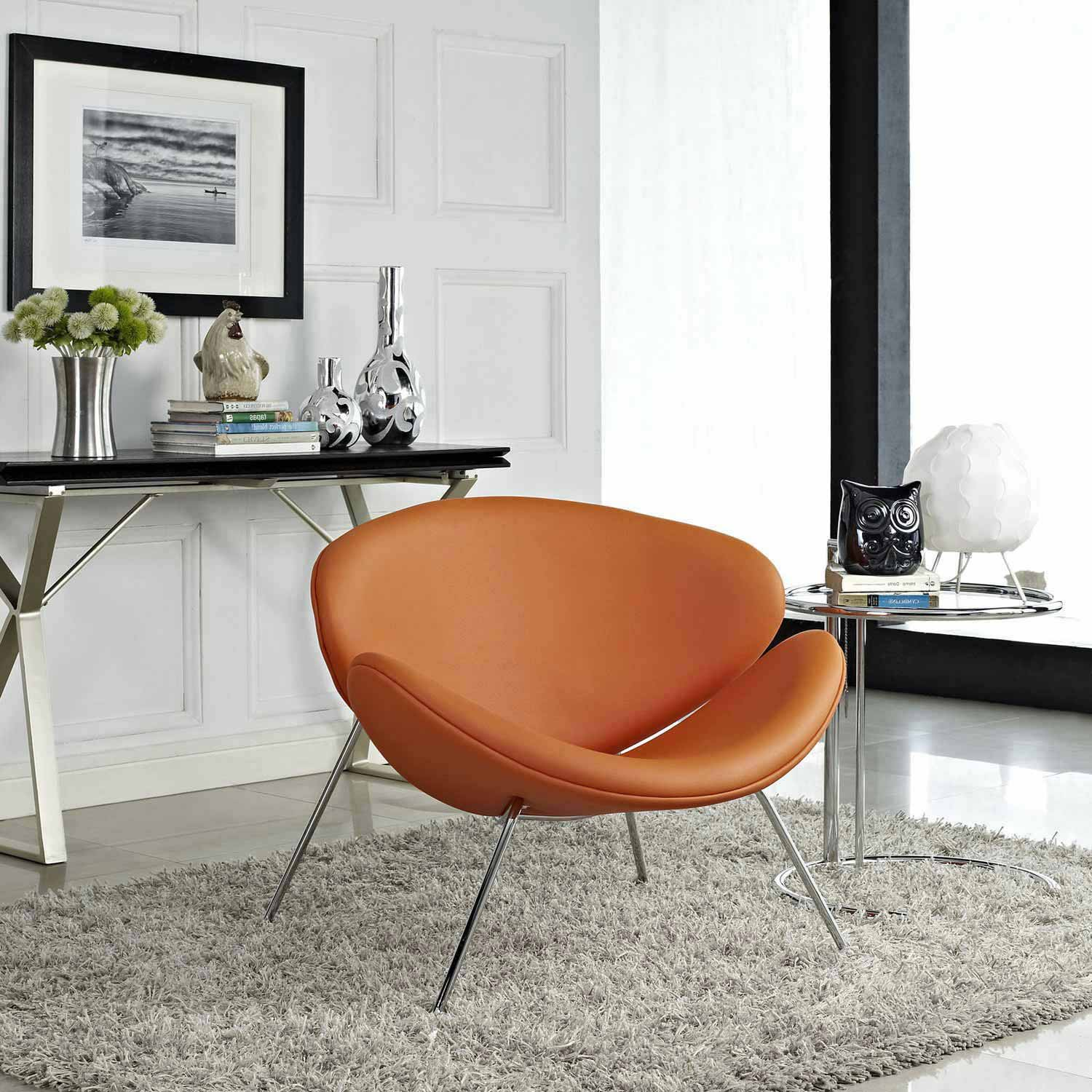 Modway Nutshell Lounge Chair - Orange