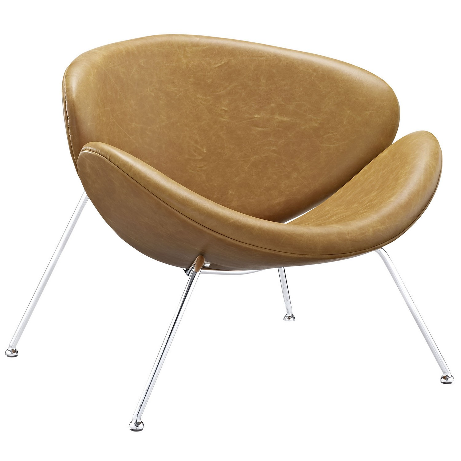 Modway Nutshell Lounge Chair - Tan
