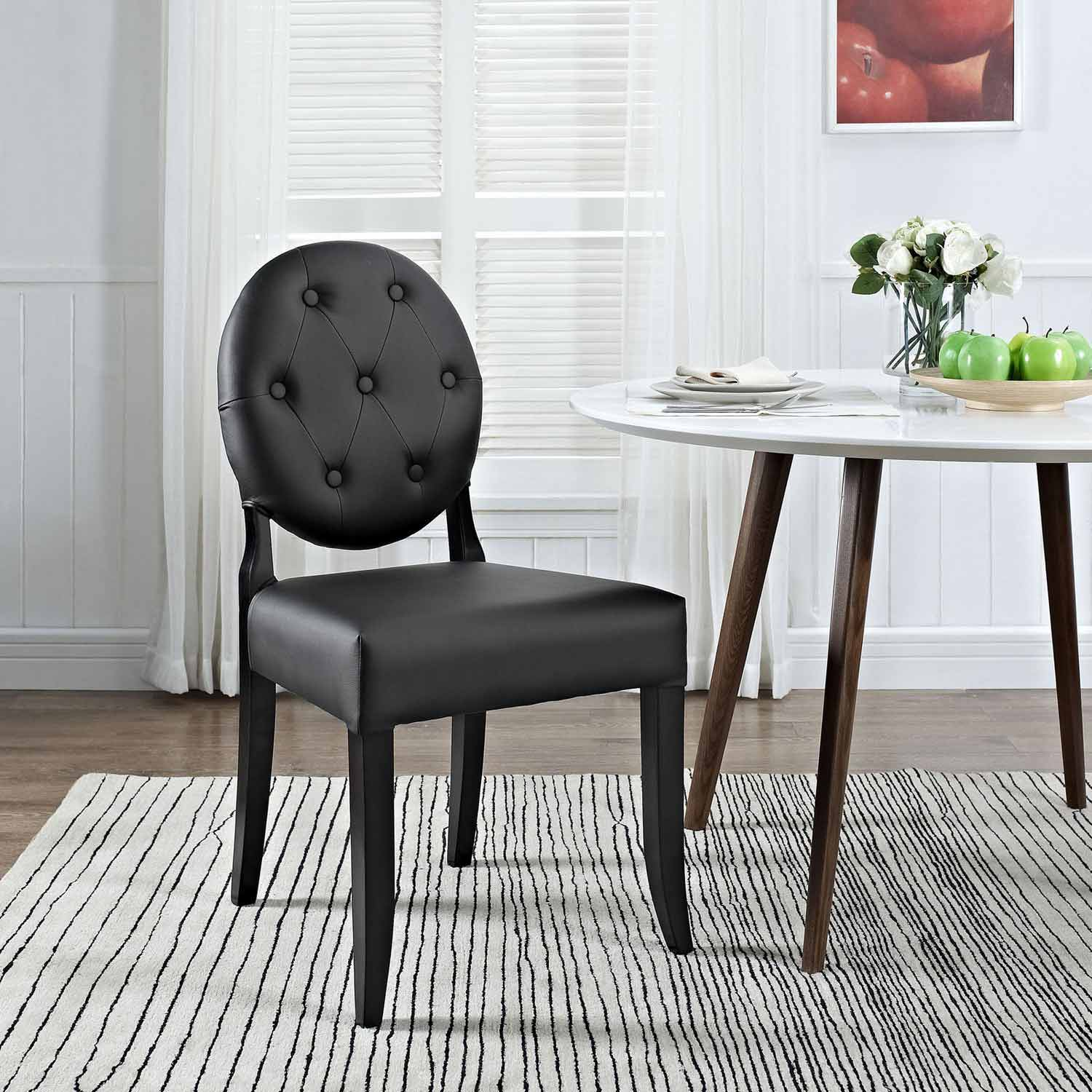 Modway Button Dining Side Chair - Black