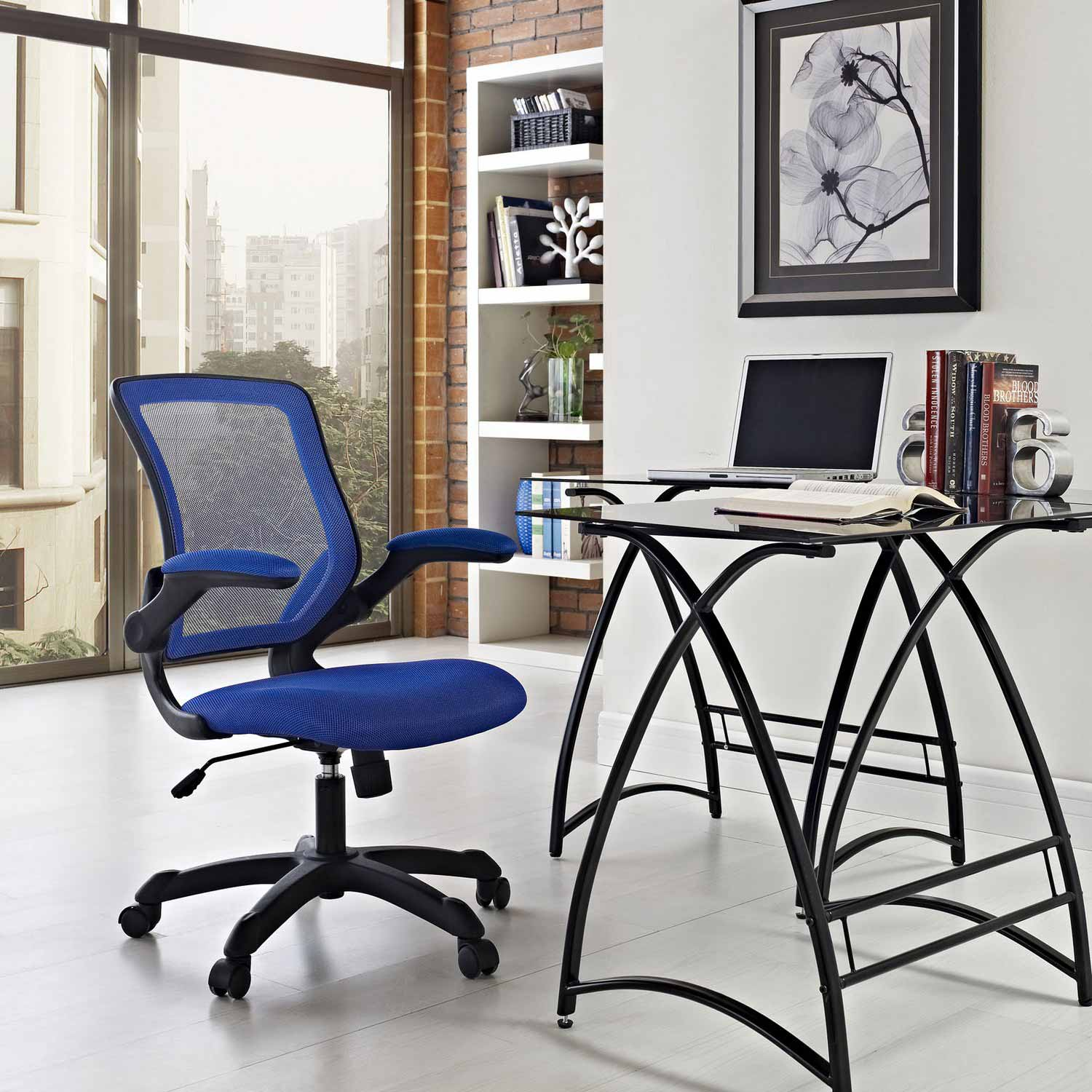Modway Veer Mesh Office Chair Blue